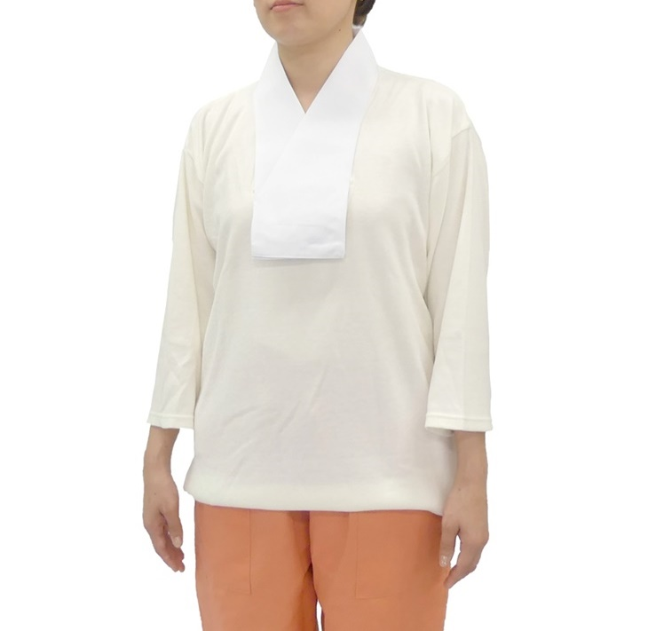 女性用吸湿発熱あったか肌着 半衿付 七分丈【女性用 和装 襦袢】商品写真