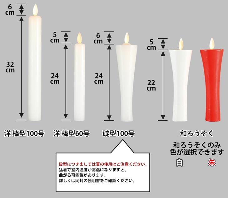 堂守のゆらぎ 【LEDろうそく 仏具】商品写真